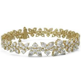16 ctw Pear & Marquise Diamond Bracelet 18K Yellow Gold