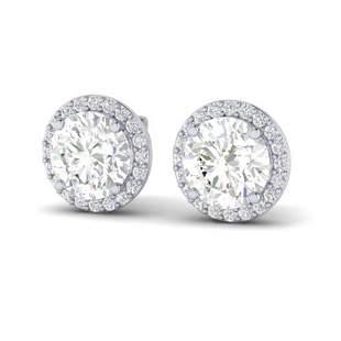 3.50 ctw VS/SI Diamond Certified Earrings 18k White