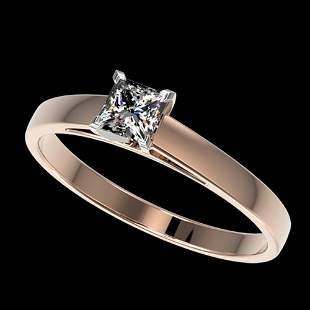 0.50 ctw Certified VS/SI Quality Princess Diamond Ring
