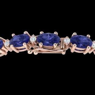 19.7 ctw Tanzanite & VS/SI Diamond Eternity Bracelet