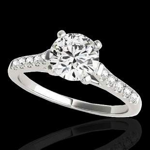 1.45 ctw Certified Diamond Solitaire Ring 10k White