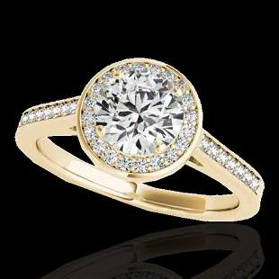1.93 ctw Certified Diamond Solitaire Halo Ring 10k