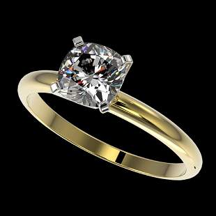 1 ctw Certified VS/SI Quality Cushion Cut Diamond Ring