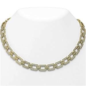 20 ctw Diamond Designer Necklace 18K Yellow Gold -