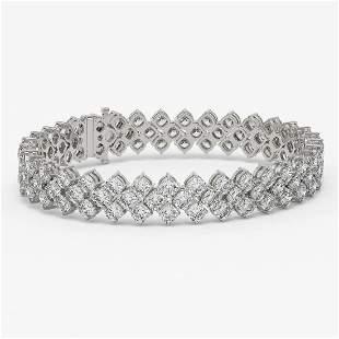 30 ctw Cushion Cut Diamond Designer Bracelet 18K White
