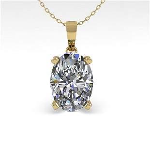 0.50 ctw VS/SI Oval Diamond Designer Necklace 18k