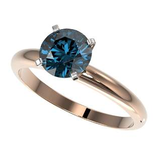 1.47 ctw Certified Intense Blue Diamond Engagment Ring