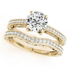 1.27 ctw Certified VS/SI Diamond 2pc Wedding Set
