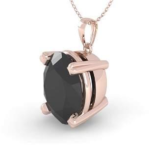 5.0 ctw Oval Black Diamond Designer Necklace 14k Rose