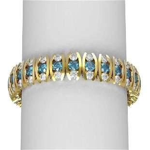 29.43 ctw Intense Blue Diamond Bracelet 18K Yellow Gold