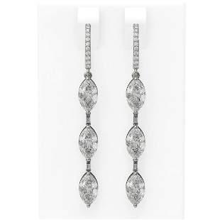4.99 ctw Marquise Diamond Earrings 18K White Gold -