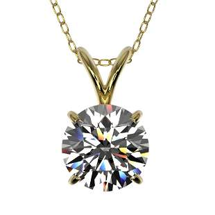 1.25 ctw Certified Quality Diamond Necklace 10k Yellow