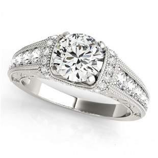 1.75 ctw Certified VS/SI Diamond Antique Ring 14k White