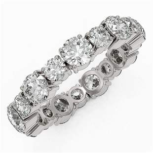 3.51 ctw Diamond Designer Eternity Ring 18K White Gold