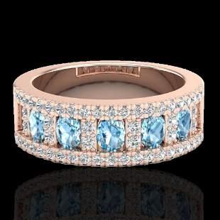 2 ctw TOPAZ & Micro Pave VS/SI Diamond Designer Ring