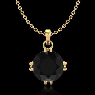 1 ctw Fancy Black Diamond Art Deco Stud Necklace 18K