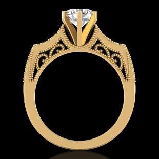 1.25 ctw VS/SI Diamond Art Deco Ring 18k Yellow Gold -