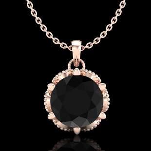 1.36 ctw Fancy Black Diamond Art Deco Stud Necklace 18k