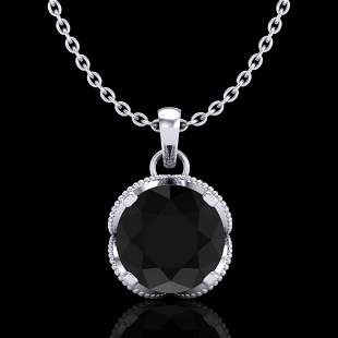 1.13 ctw Fancy Black Diamond Art Deco Stud Necklace 18k