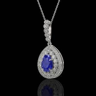 4.97 ctw Sapphire & Diamond Victorian Necklace 14K