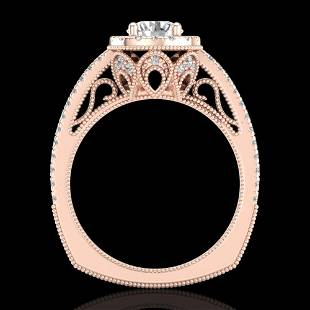 1.55 ctw VS/SI Diamond Solitaire Art Deco Ring 18k Rose