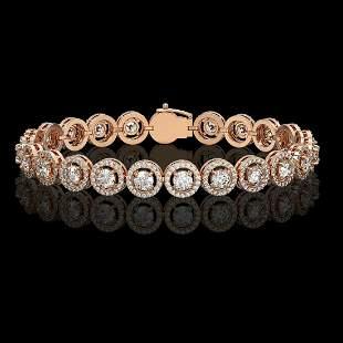 8.83 ctw Diamond Micro Pave Bracelet 18K Rose Gold -