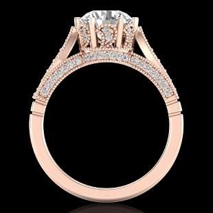 2.2 ctw VS/SI Diamond Art Deco Ring 18k Rose Gold -