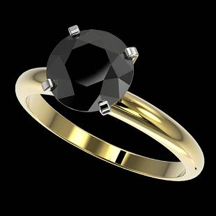 .59 ctw Fancy Black Diamond Solitaire Engagment Ring