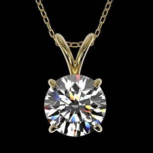 1.30 ctw Certified Quality Diamond Necklace 10k Yellow