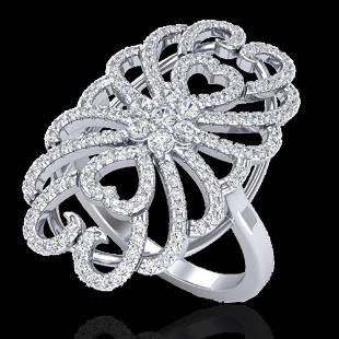 2.25 ctw Micro Pave VS/SI Diamond Designer Ring 18k