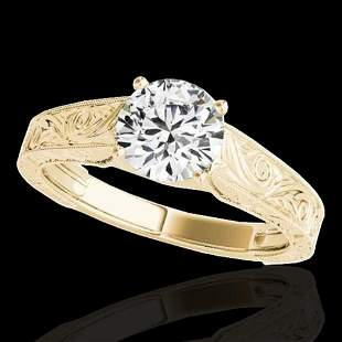 1 ctw Certified Diamond Solitaire Ring 10k Yellow Gold