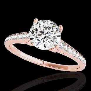 1.5 ctw Certified Diamond Solitaire Ring 10k Rose Gold