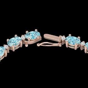 34 ctw Sky Blue Topaz & VS/SI Diamond Certified