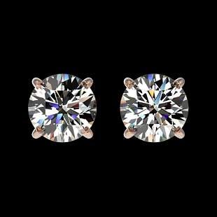1.02 ctw Certified Quality Diamond Stud Earrings 10k