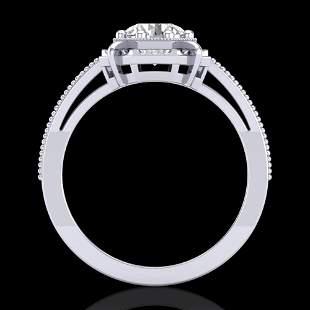 1 ctw VS/SI Diamond Solitaire Art Deco Ring 18k White