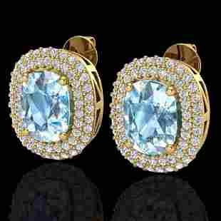 6 ctw Sky Blue Topaz & Micro Pave VS/SI Diamond