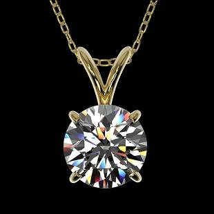 1.05 ctw Certified Quality Diamond Necklace 10k Yellow