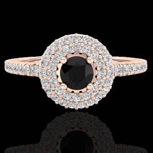 .80 ctw Micro VS/SI Diamond Designer Ring 14K Rose Gold