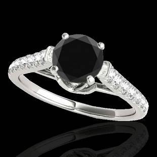 1.46 ctw Certified VS Black Diamond Solitaire Ring 10K