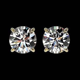 1.50 ctw Certified Quality Diamond Stud Earrings 10k
