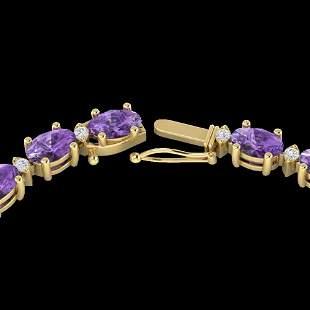 61.85 ctw Amethyst & VS/SI Diamond Eternity Necklace