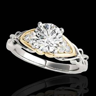 1.35 ctw Certified Diamond Solitaire Ring 10k 2Tone