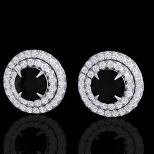 2 ctw Micro Pave VS/SI Diamond Certified Stud Earrings