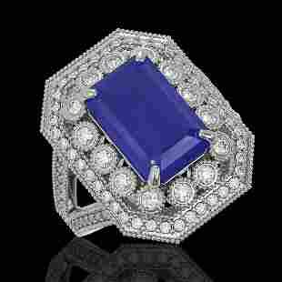 7.11 ctw Certified Sapphire & Diamond Victorian Ring