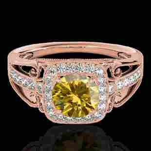 1.3 ctw Certified SI/I Fancy Intense Yellow Diamond