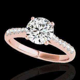 1.25 ctw Certified Diamond Solitaire Ring 10k Rose Gold