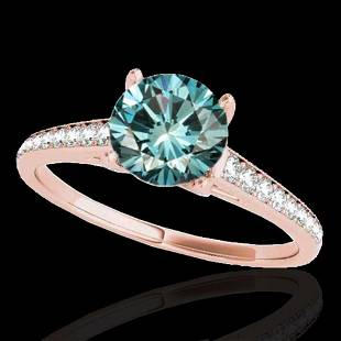 2 ctw SI Certified Fancy Blue Diamond Solitaire Ring