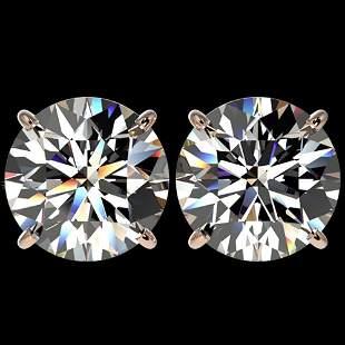5 ctw Certified Quality Diamond Stud Earrings 10k Rose