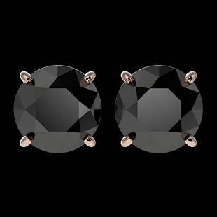 .60 ctw Fancy Black Diamond Solitaire Stud Earrings