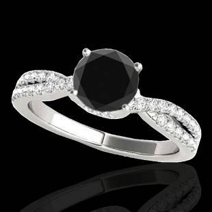 1.3 ctw Certified VS Black Diamond Solitaire Ring 10K